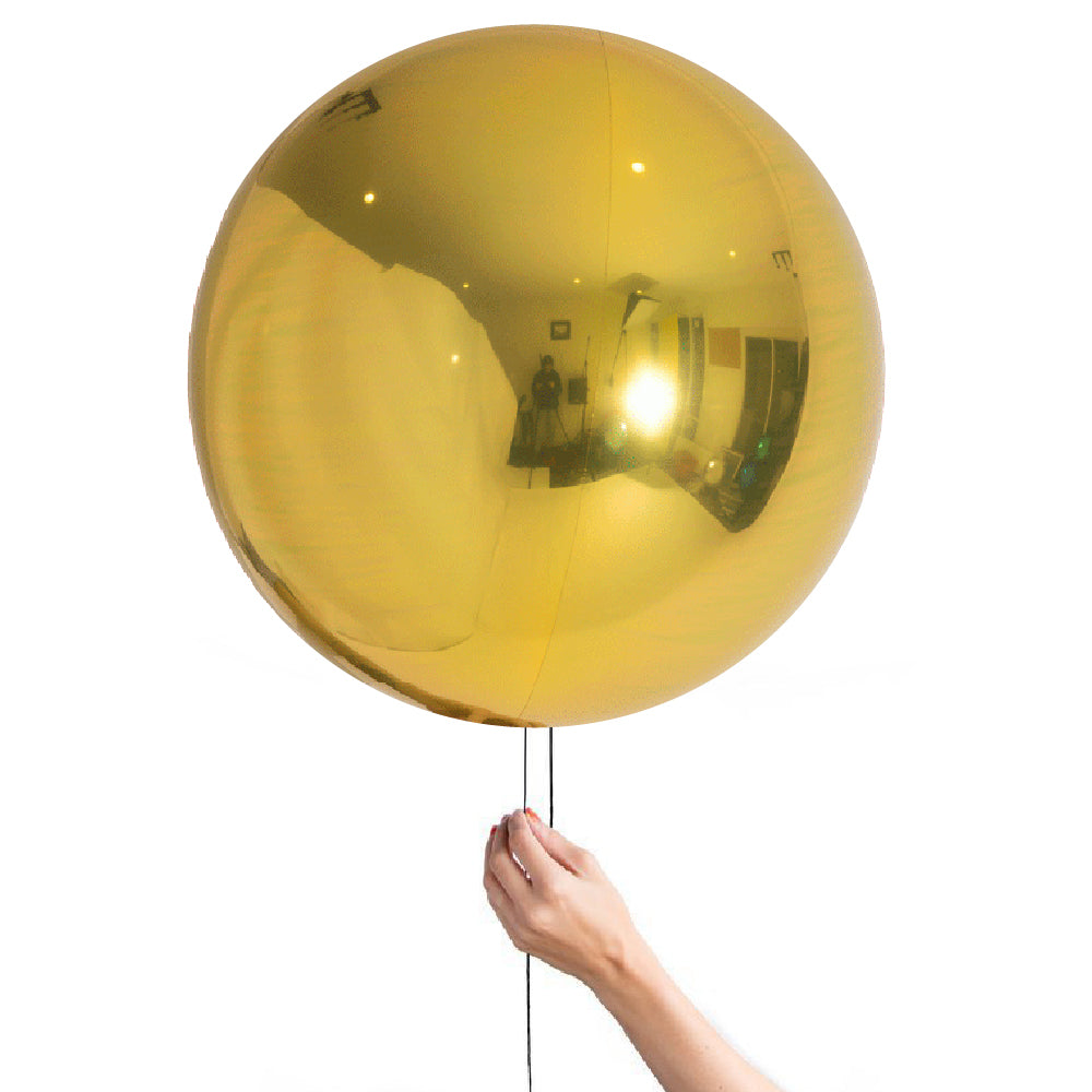 "24"" (60cm) Gold Balloon Ball Orbz-Party Love"