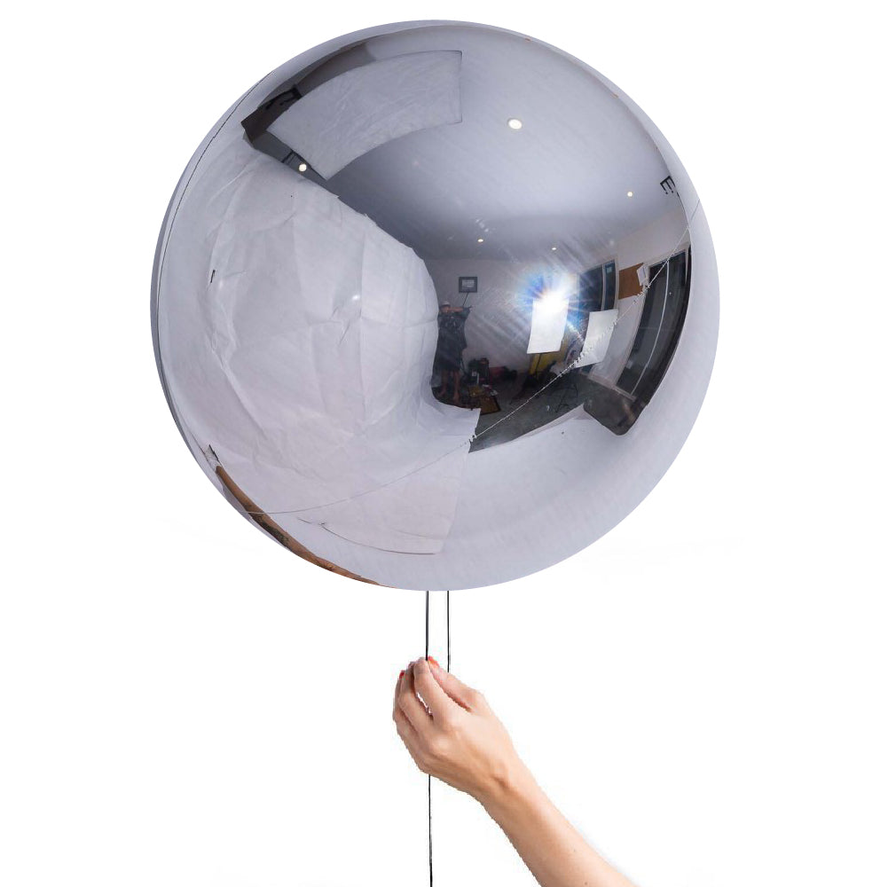 "24"" (60cm) Silver Balloon Ball Orbz-Party Love"