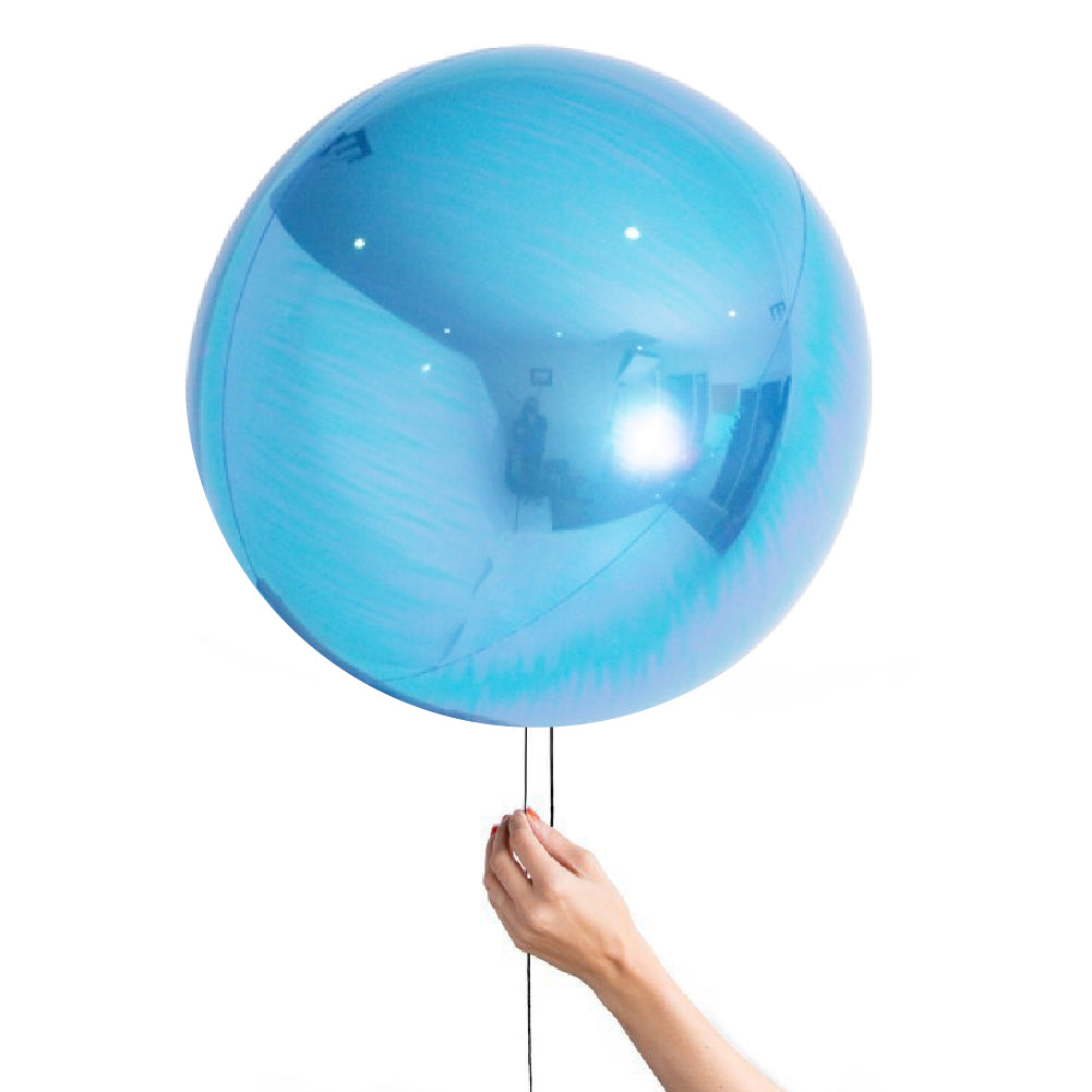 "24"" (60cm) Pearl Light Blue Balloon Ball Orbz-Party Love"
