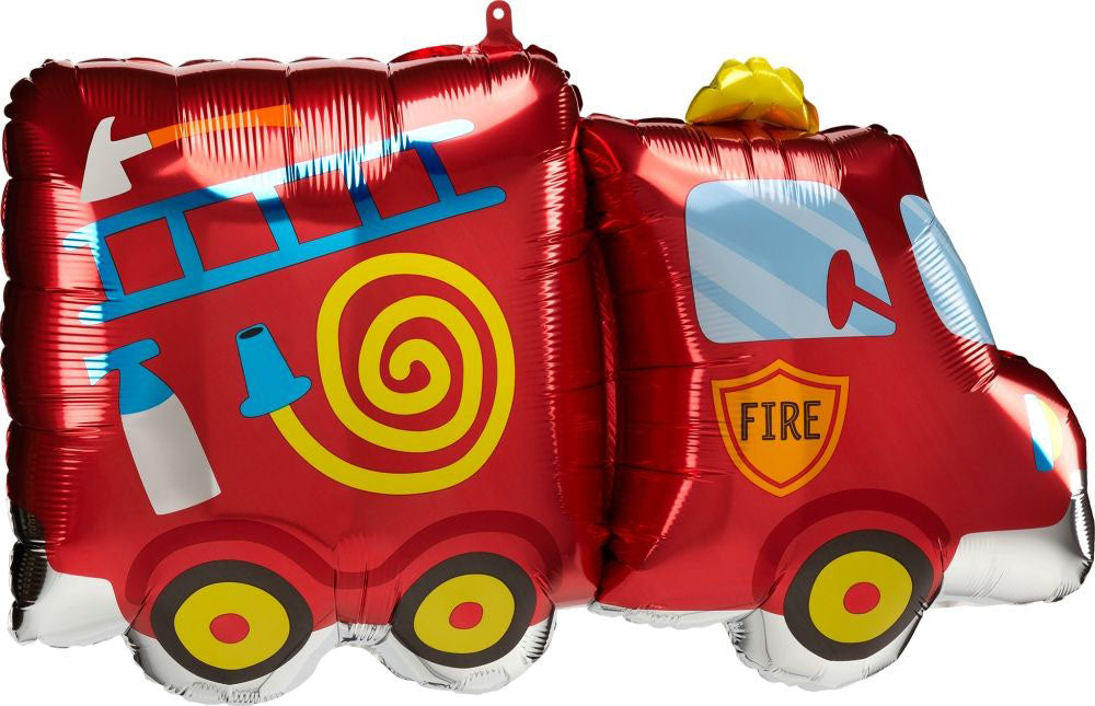 Anagram Fire Truck Fire Engine Foil Balloon (76cm x 45cm)-Party Love