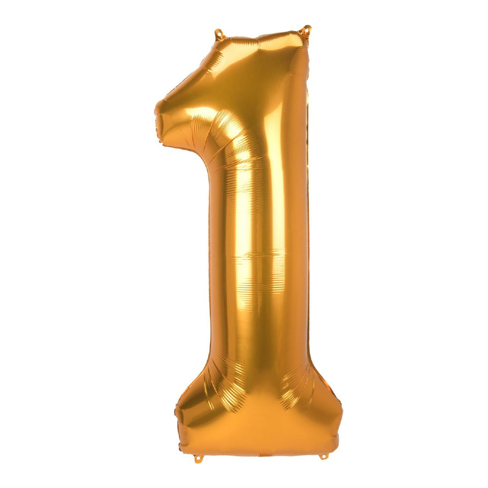 "86cm (34"") Gold Number 1 Foil Balloon-Party Love"