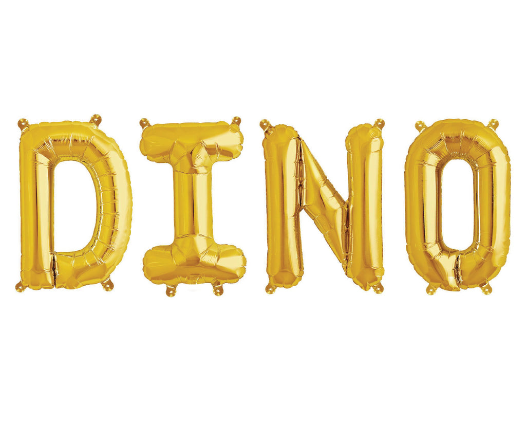 Gold Foil Balloon - Dino-Party Love