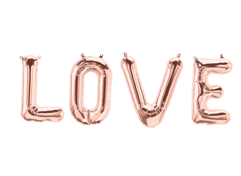 "40cm (16"") Love Letters Foil Rose Gold-Party Love"