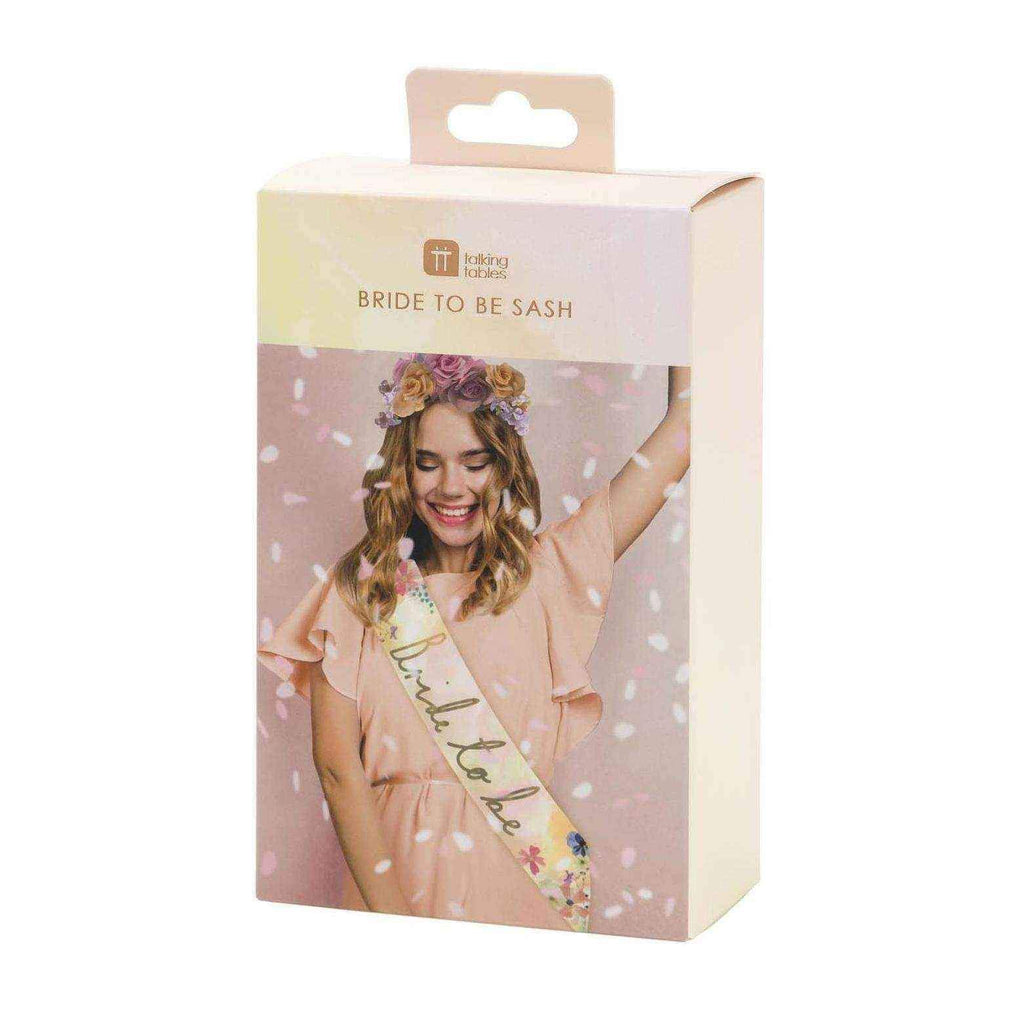 Blossom Girls Bride to Be Sash-Party Love