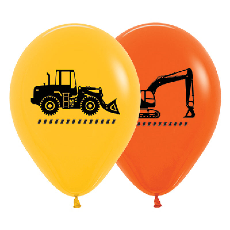 Construction Trucks Latex Balloons 25PK-Party Love