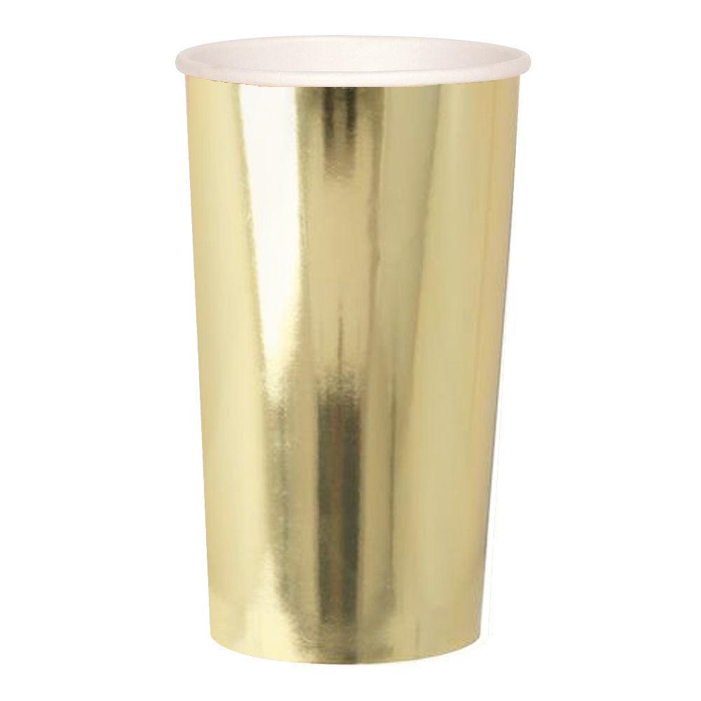 Gold Party Cups Highball-Party Love