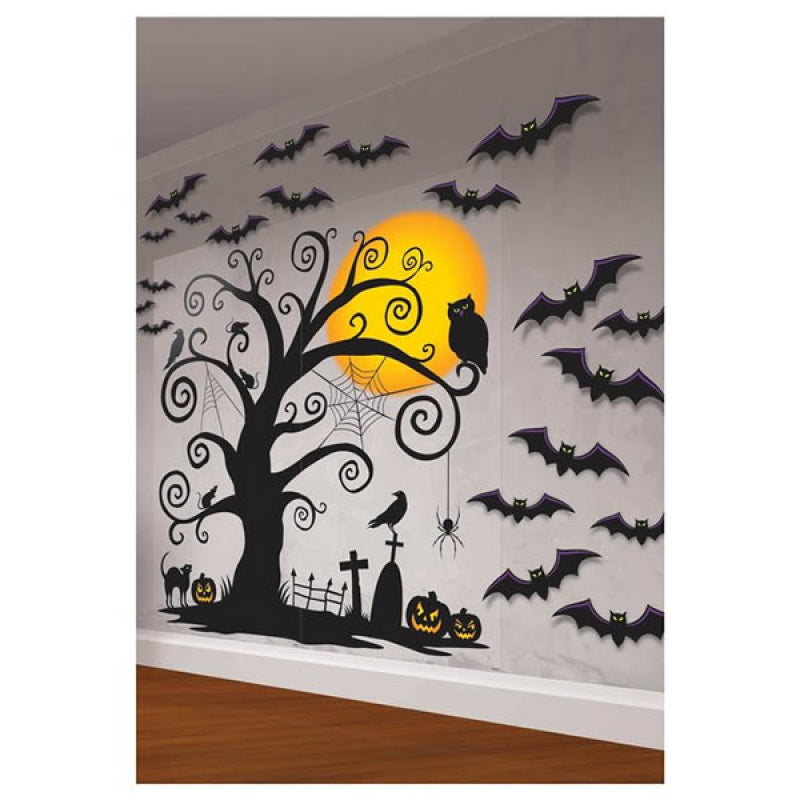 Halloween Mega Value Pack Scene Setters Wall Decorating Kit-Party Love