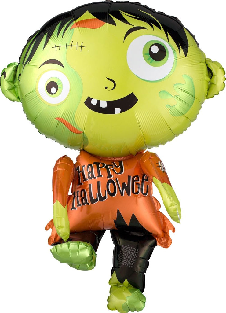 Happy Halloween Zombie Foil Balloon 78cm-Party Love