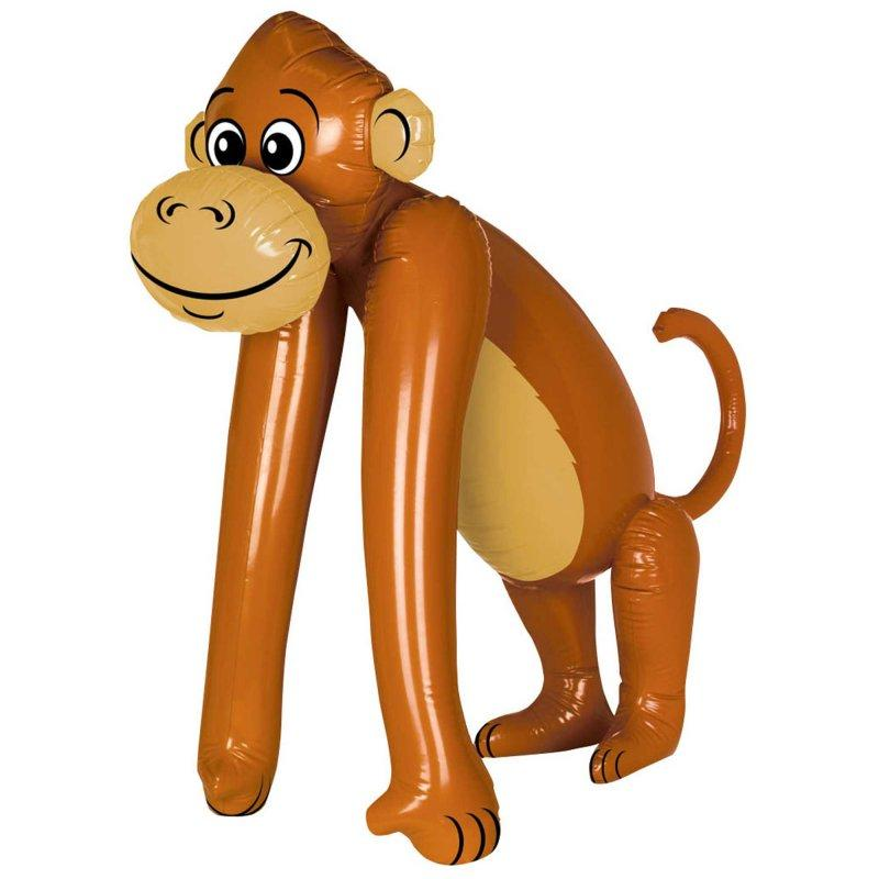 Inflatable Jumbo Monkey 109cm-Party Love