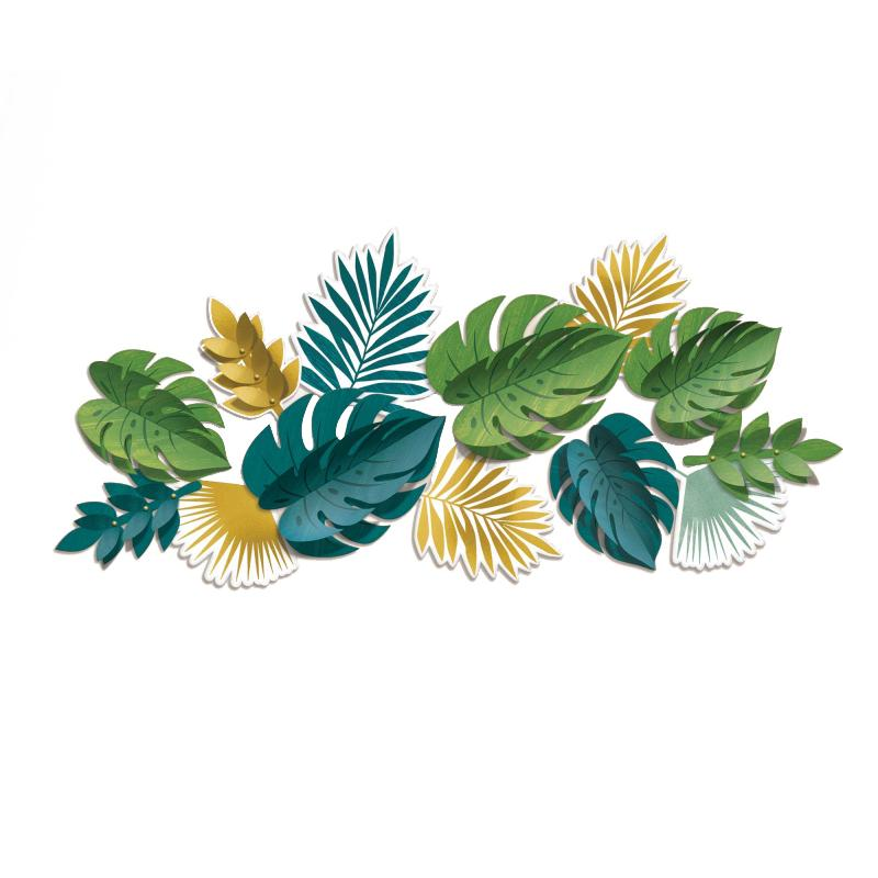 Key West Palm Leaves Wall Decorating Kit-Party Love