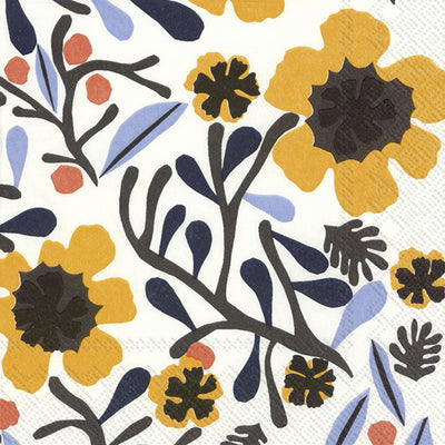 Marimekko Mykero White Yellow C Lunch Napkins-Party Love