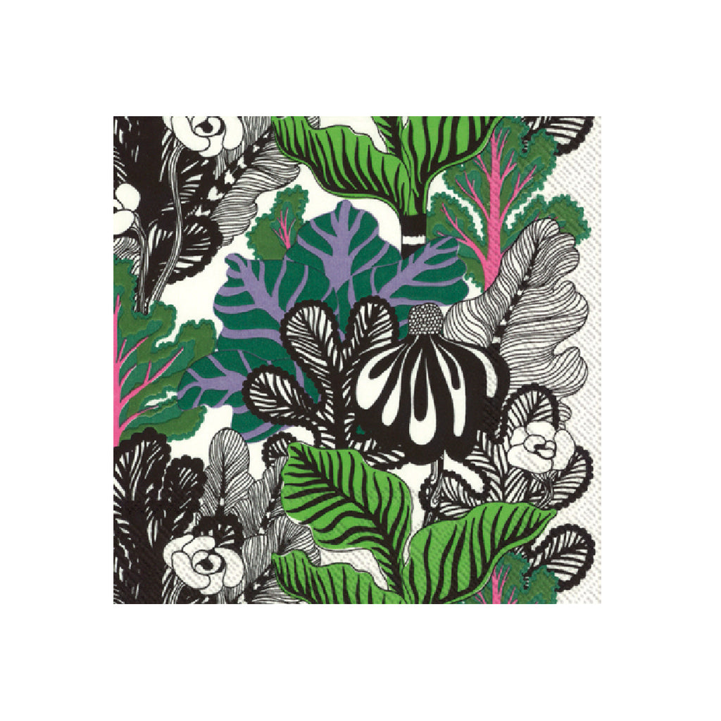 Marimekko Kaalimetsa Green Lunch Napkins-Party Love