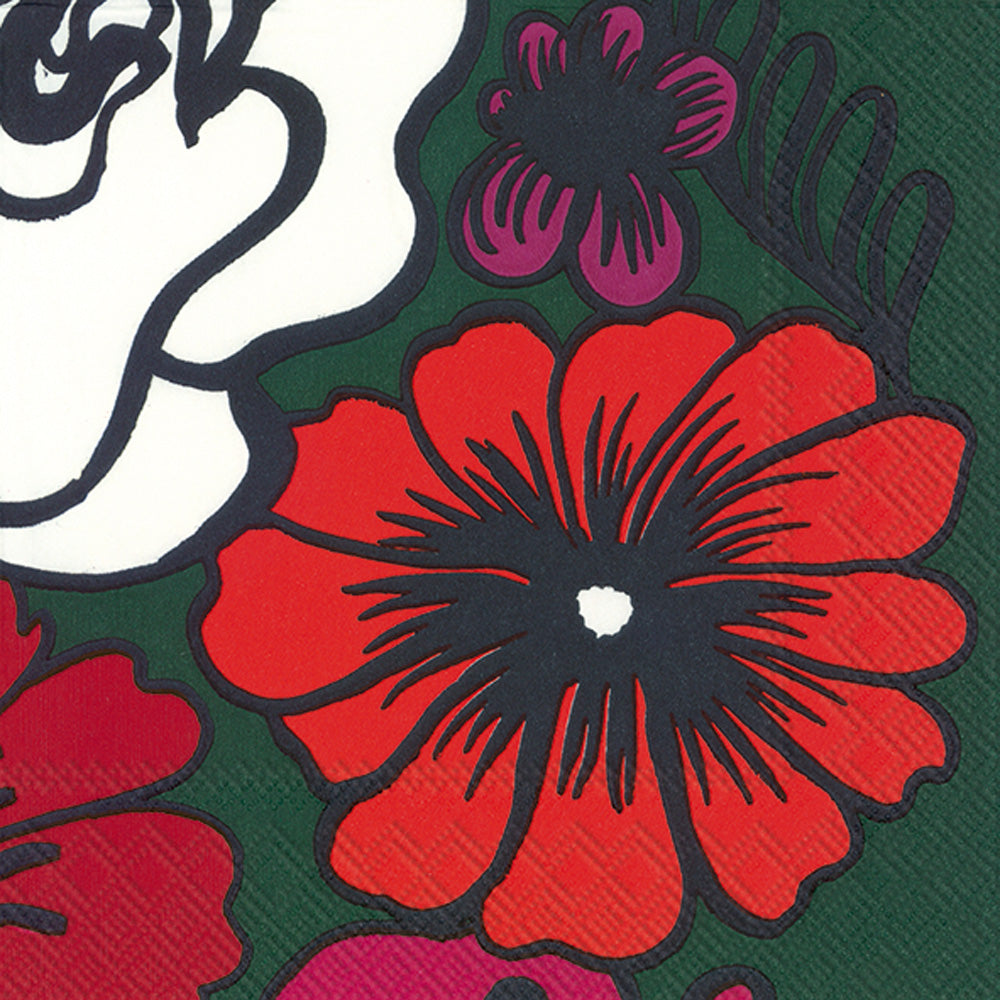 Marimekko Elakoon Elama Dark Green Cocktail Napkins-Party Love