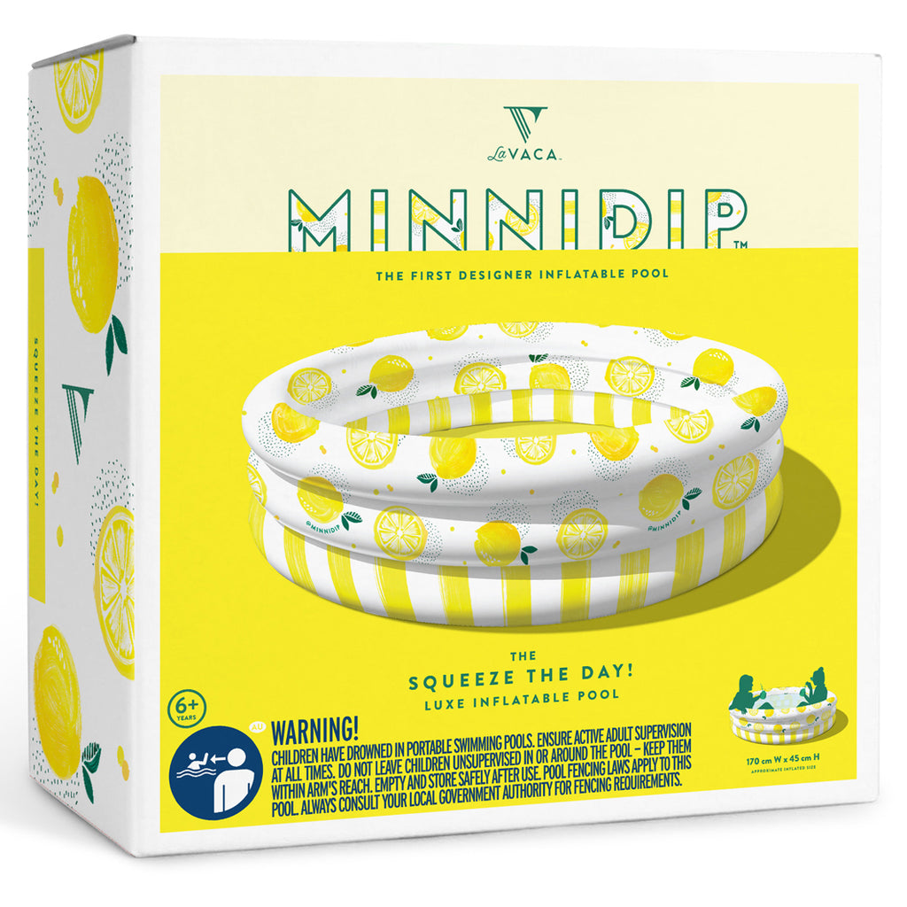 Minnidip Squeeze the Day! Pool Luxe Inflatable Pool-Party Love