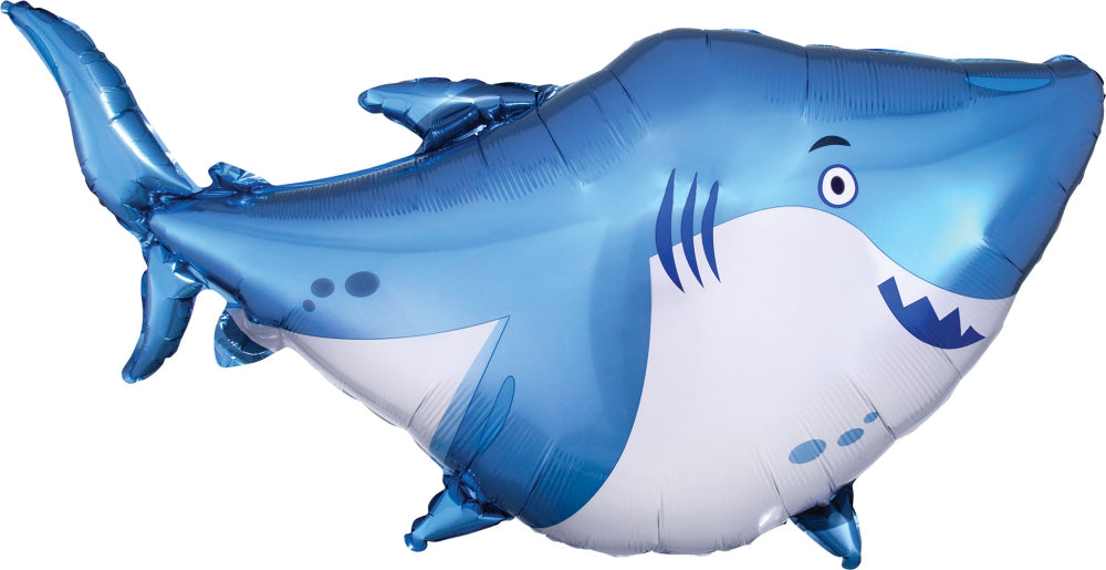 Ocean Buddies Shark Foil Balloon 101cm-Party Love