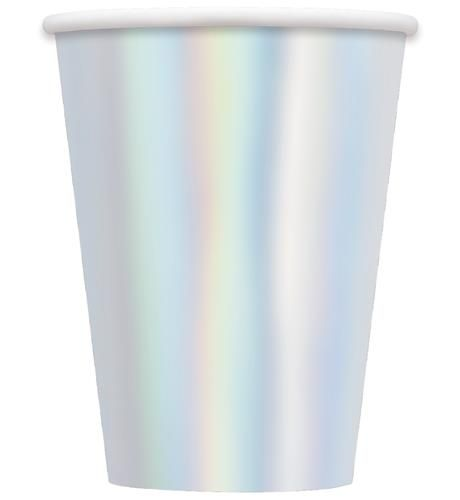 Iridescent Paper Cups (8 Pack)-Party Love
