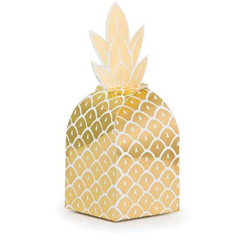 Pineapple Wedding Favor Treat Boxes (8 pack)-Party Love