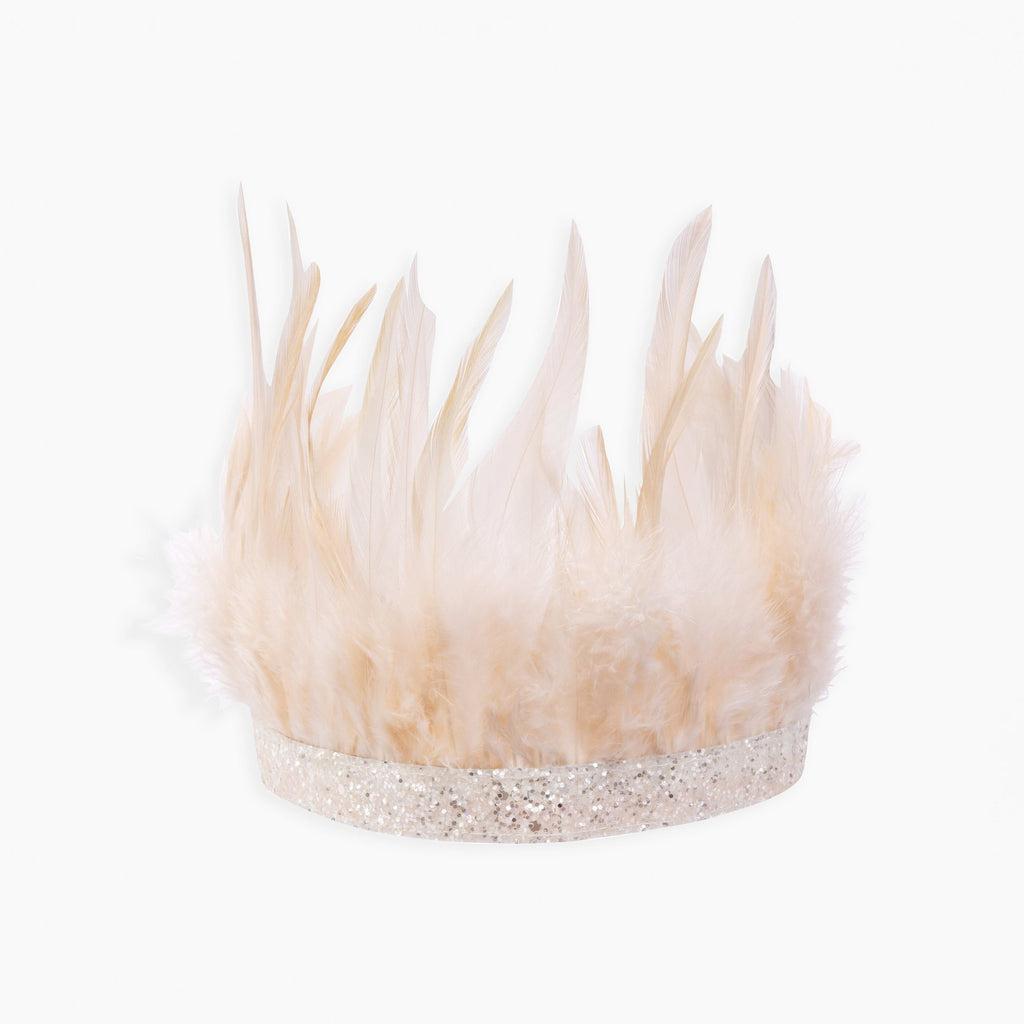 Pink Feather Party Crown-Party Love