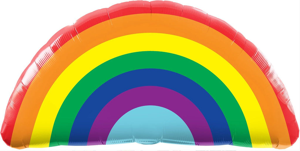 "Qualatex 91cm (36"") Bright Rainbow Foil Balloon-Party Love"