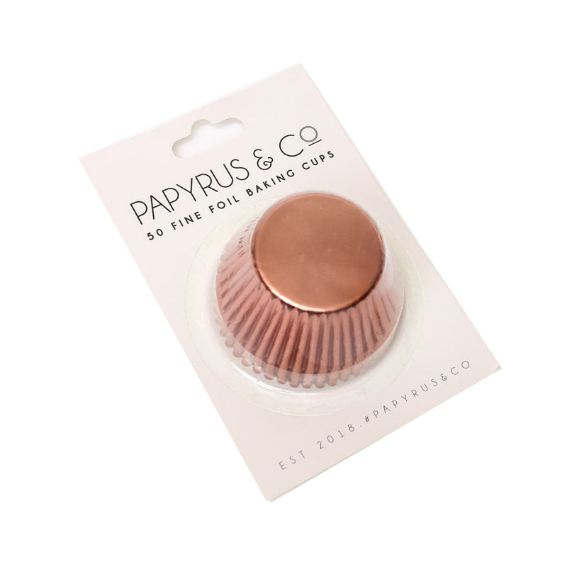 Standard Rose Gold Copper Foil Baking Cups (50 pack) - 50mm Base-Party Love