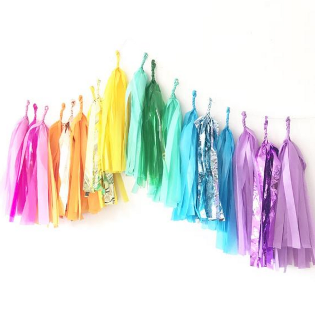Rainbow Tassel Garland Kit-Party Love