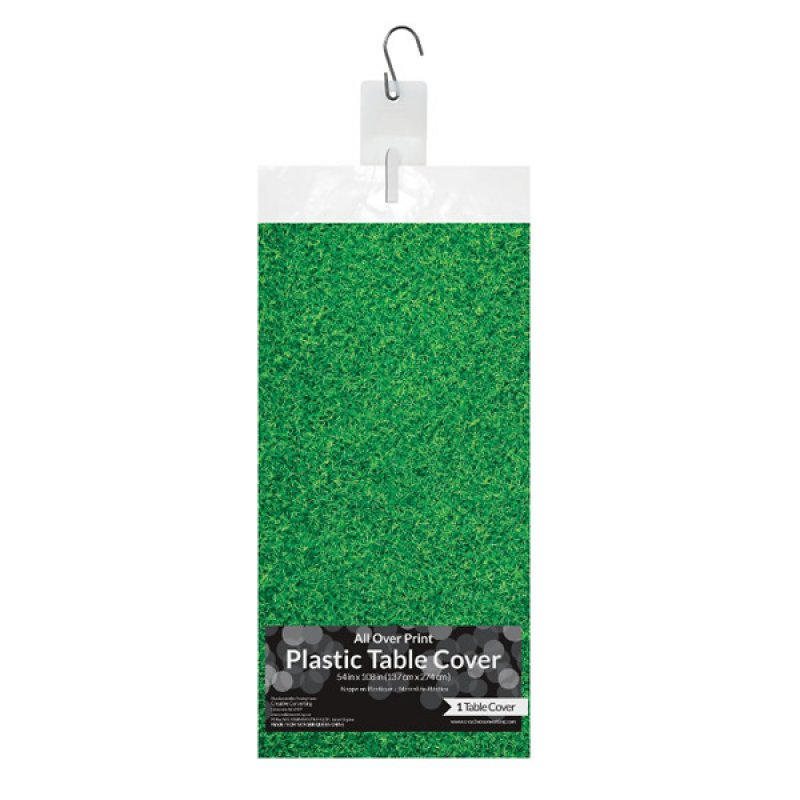 Soccer Fanatic Tablecover Grass Plastic All Over Print 137cm x 274cm-Party Love