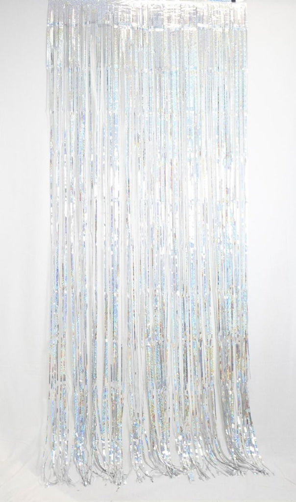 Holographic Foil Curtain 1m x 2.4m-Party Love