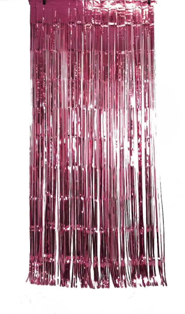 XL Foil Curtain (1m x 2.4m) Metallic Burgundy-Party Love