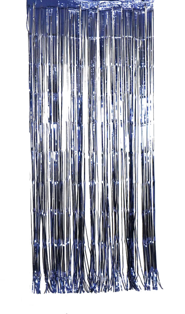 XL Metallic Navy Curtain (1m x 2.4m)-Party Love