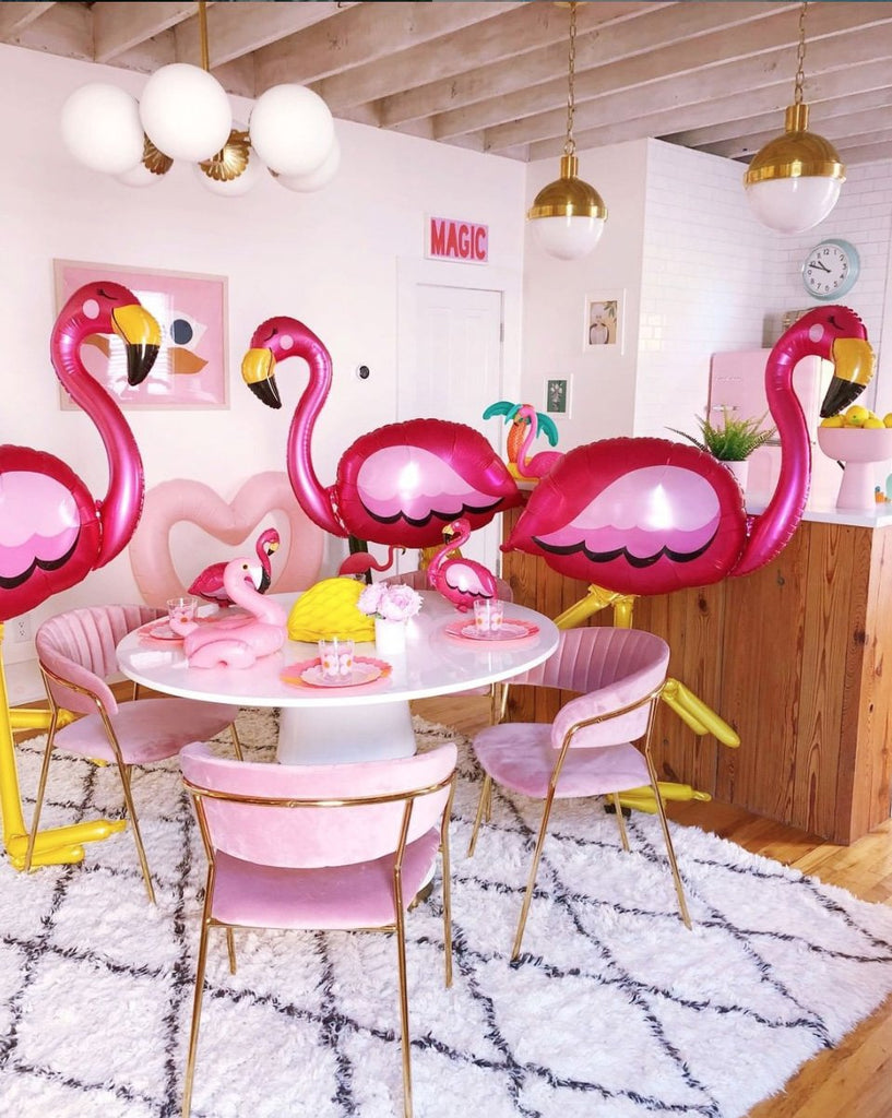 Airwalker Foil Flamingo Balloon 172cm-Party Love