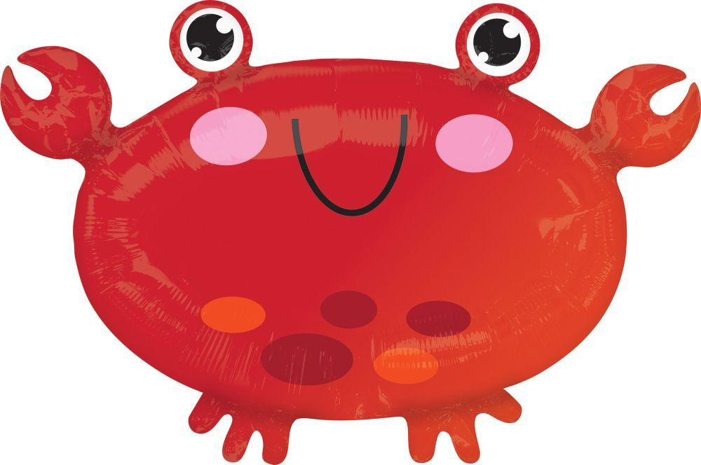 Anagram Foil Jr Shape Crab Foil Balloon (55cm x 38cm)-Party Love
