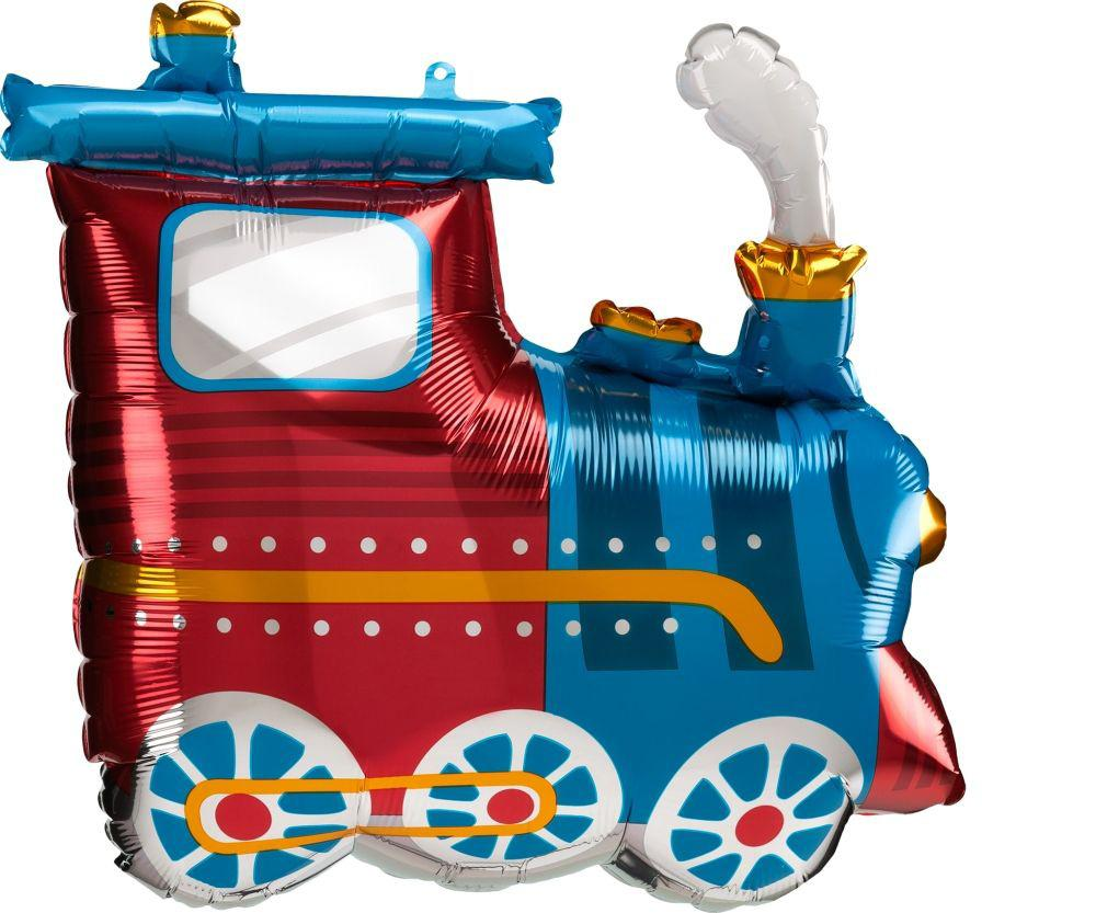 Anagram Foil SuperShape Choo Choo Train (63cm x 55cm)-Party Love