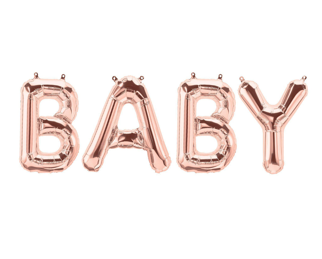 Baby Letters Rose Gold Foil Balloon-Party Love