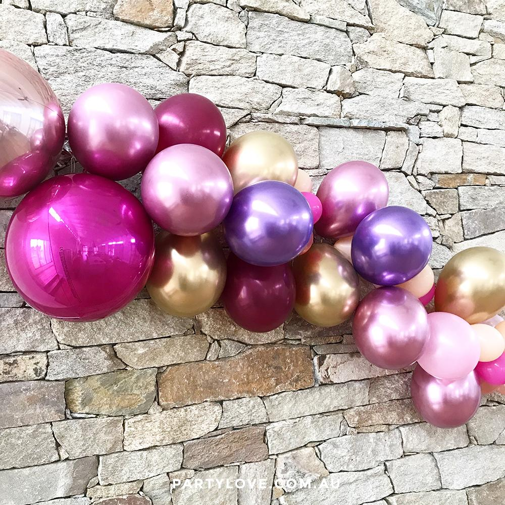 7aa430e5a47 Passion Pop Luxe Chrome 2m Balloon Garland
