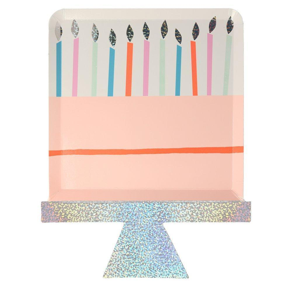 Birthday Cake Plates-Party Love