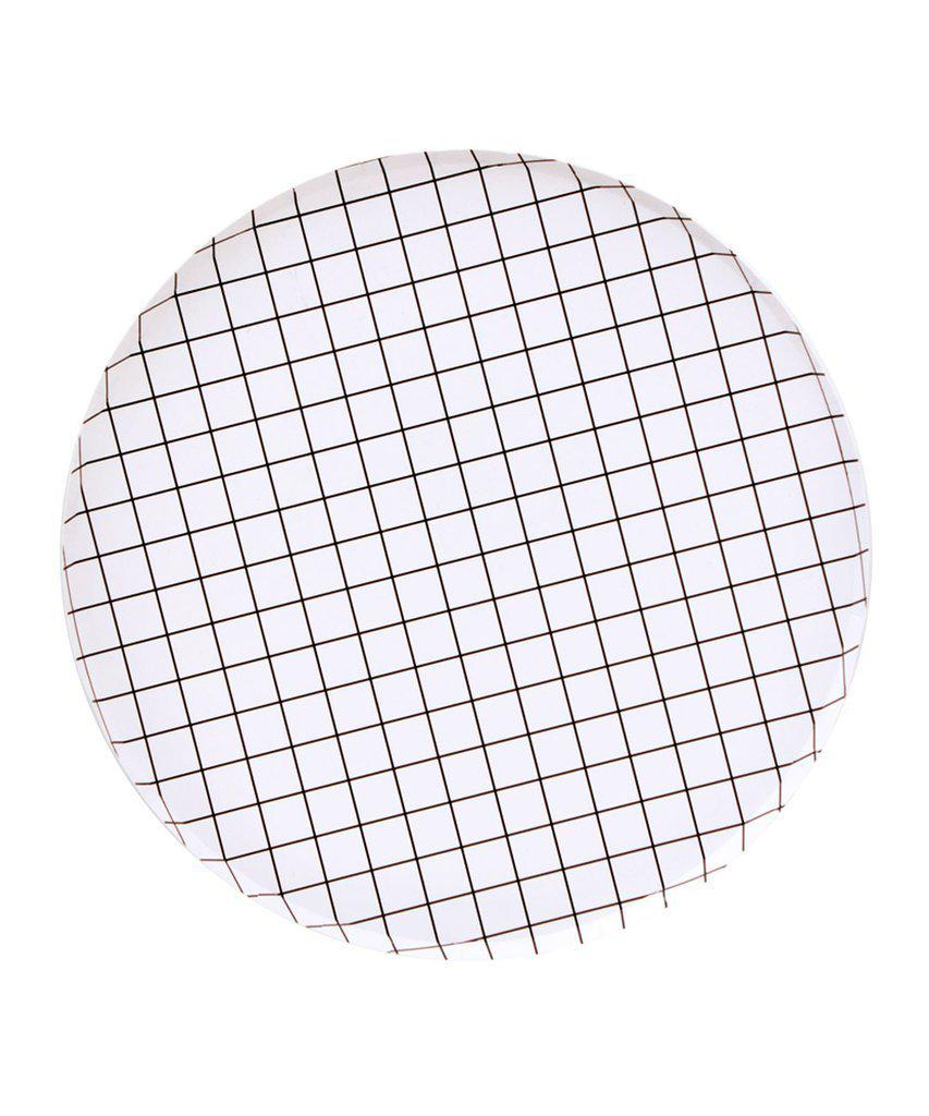 Black Grid Party Plates (Large)-Party Love