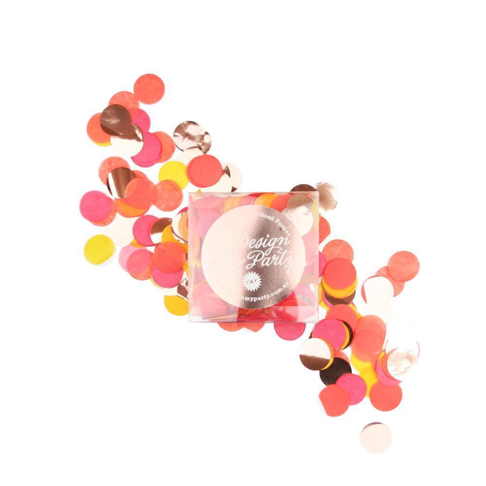 Blood Orange Glam Confetti - Rose Gold Copper-Party Love