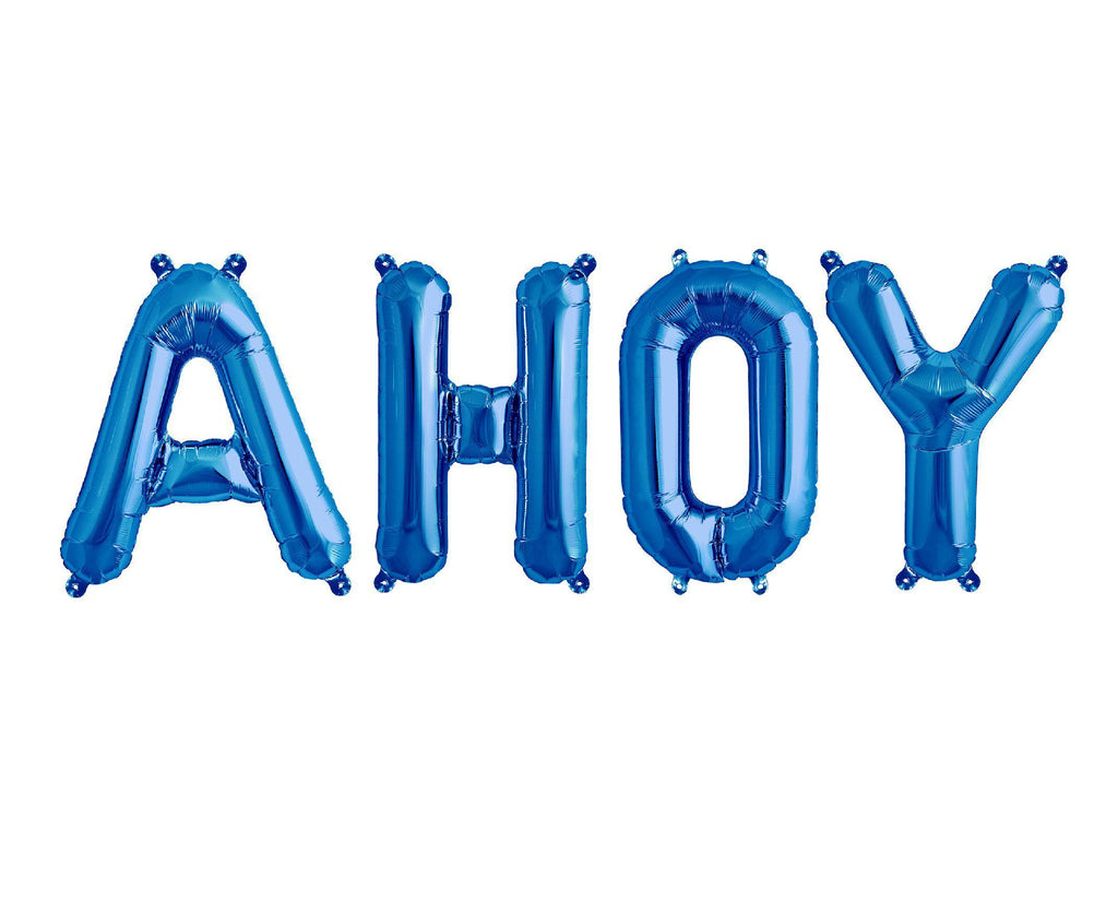 Blue Foil Balloon - Ahoy Balloons - Nautical Theme-Party Love