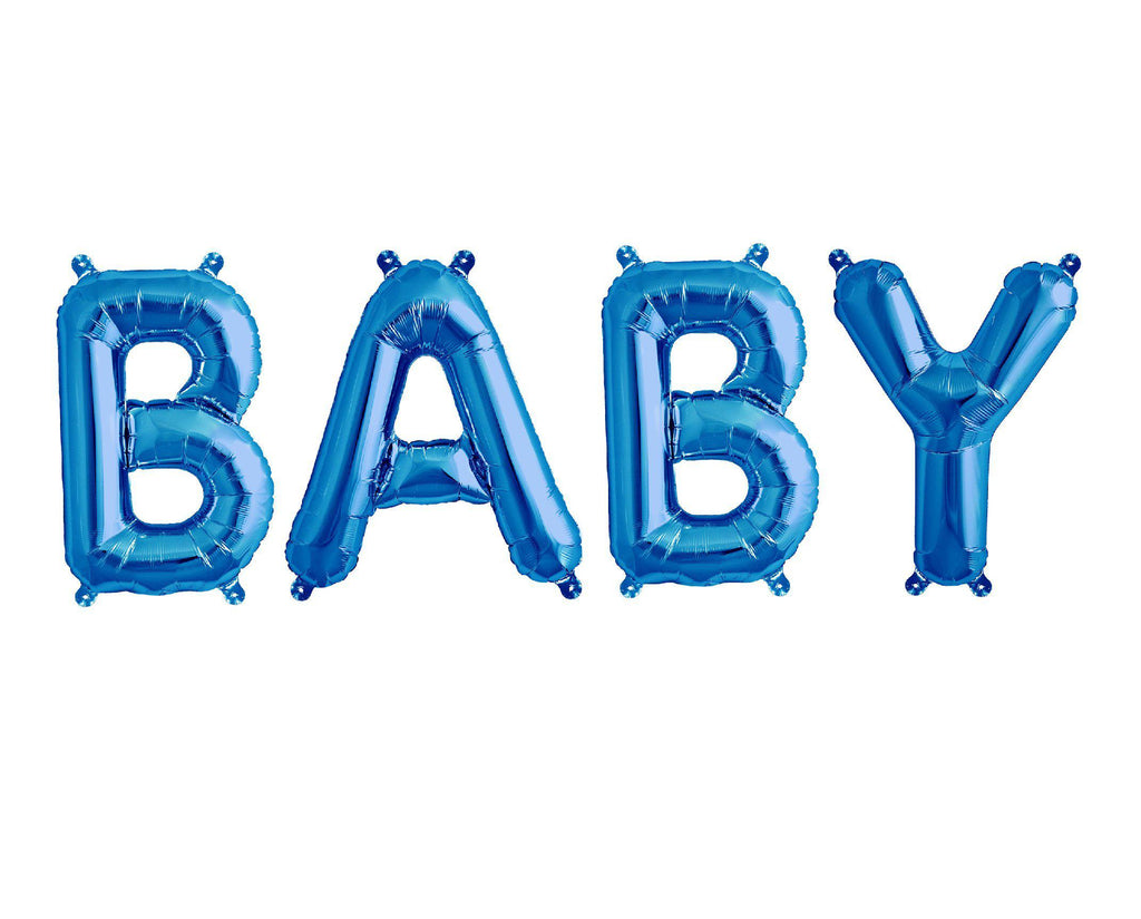 Blue Foil Balloon - Baby-Party Love