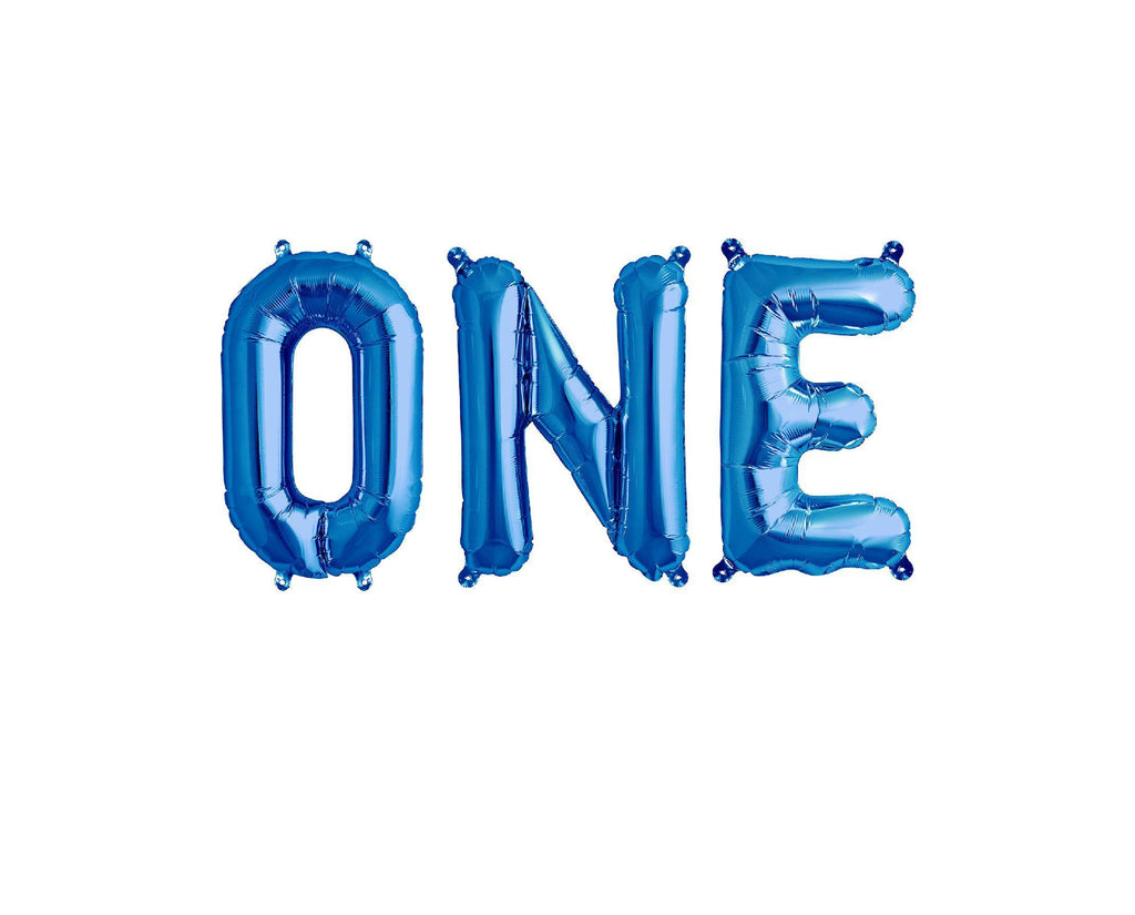 Blue Foil Balloon - One-Party Love