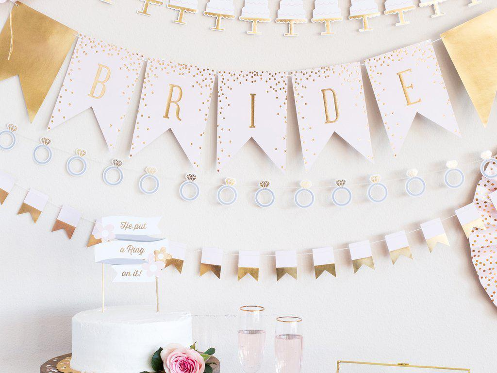 Bride Bunting Banner Wedding Decorations-Party Love