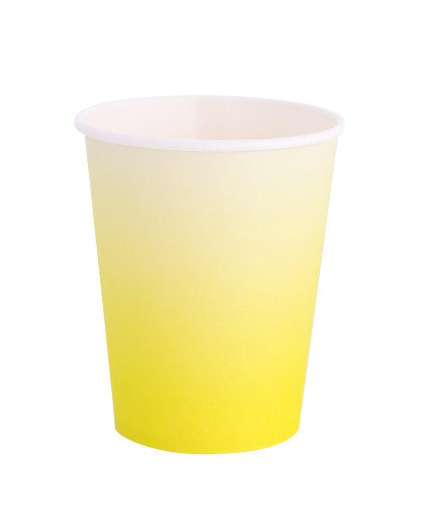 Chartreuse Lemon Lime Ombre Cups-Party Love