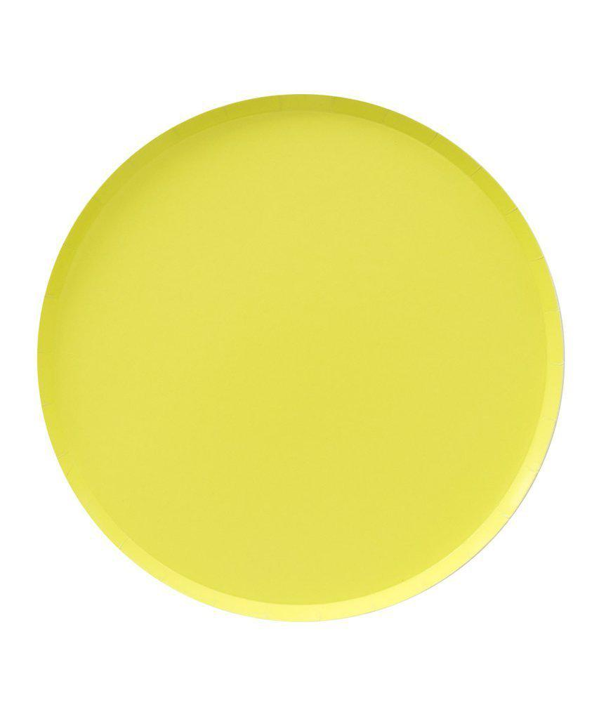 Chartreuse Lemon Lime Party Plates (Large)-Party Love