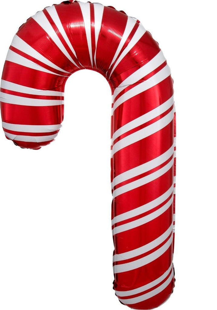 Christmas Candy Cane Foil Balloon (45cm x 76cm)-Party Love