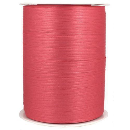Coral Matte Curling Balloon Ribbon-Party Love
