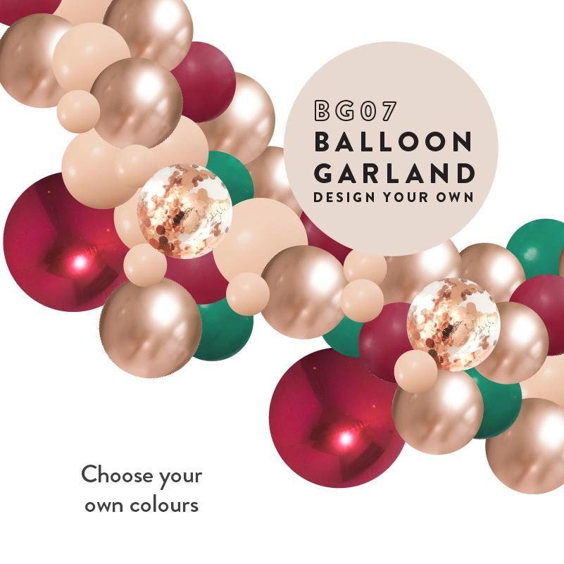 Design My Own Balloon Garland Kit Balloon Arch 2m (With Shiny Orbz Balloons) BG7-Party Love