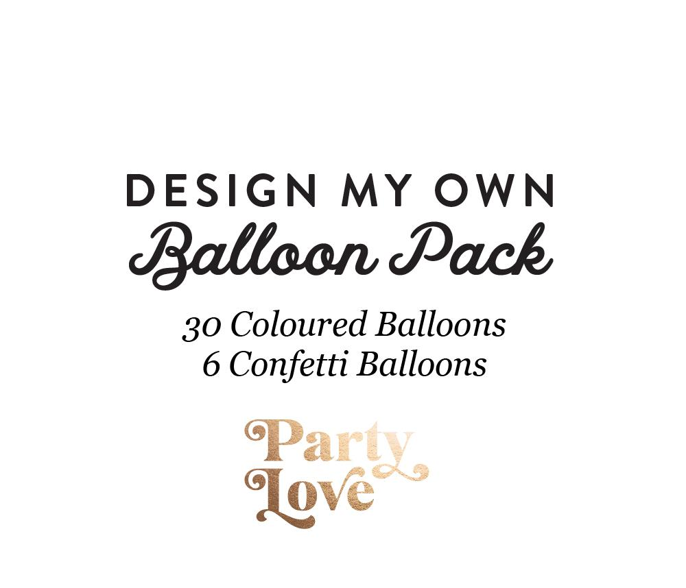 Design My Own Balloon Pack Balloon Bouquet (36 Pack)-Party Love