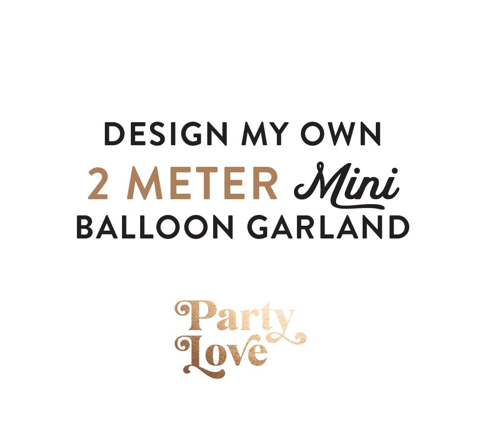 Design My Own Mini Balloon Garland 2 meters BG12-Party Love