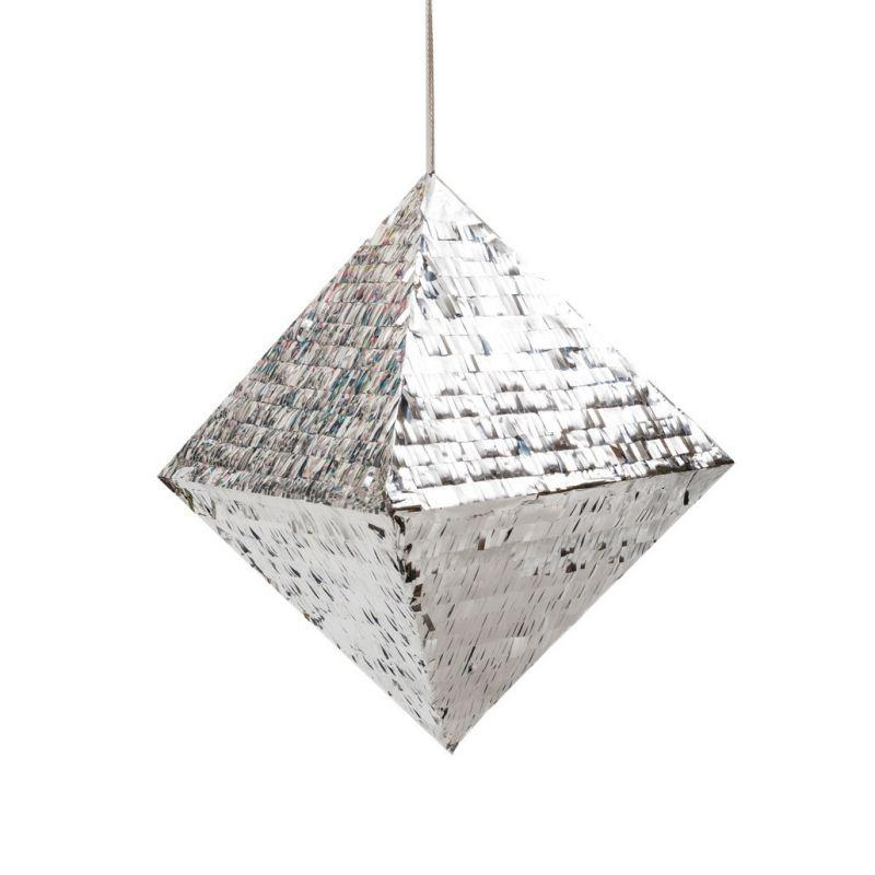 Five Star 40cm Pinata Diamond Metallic Silver-Party Love