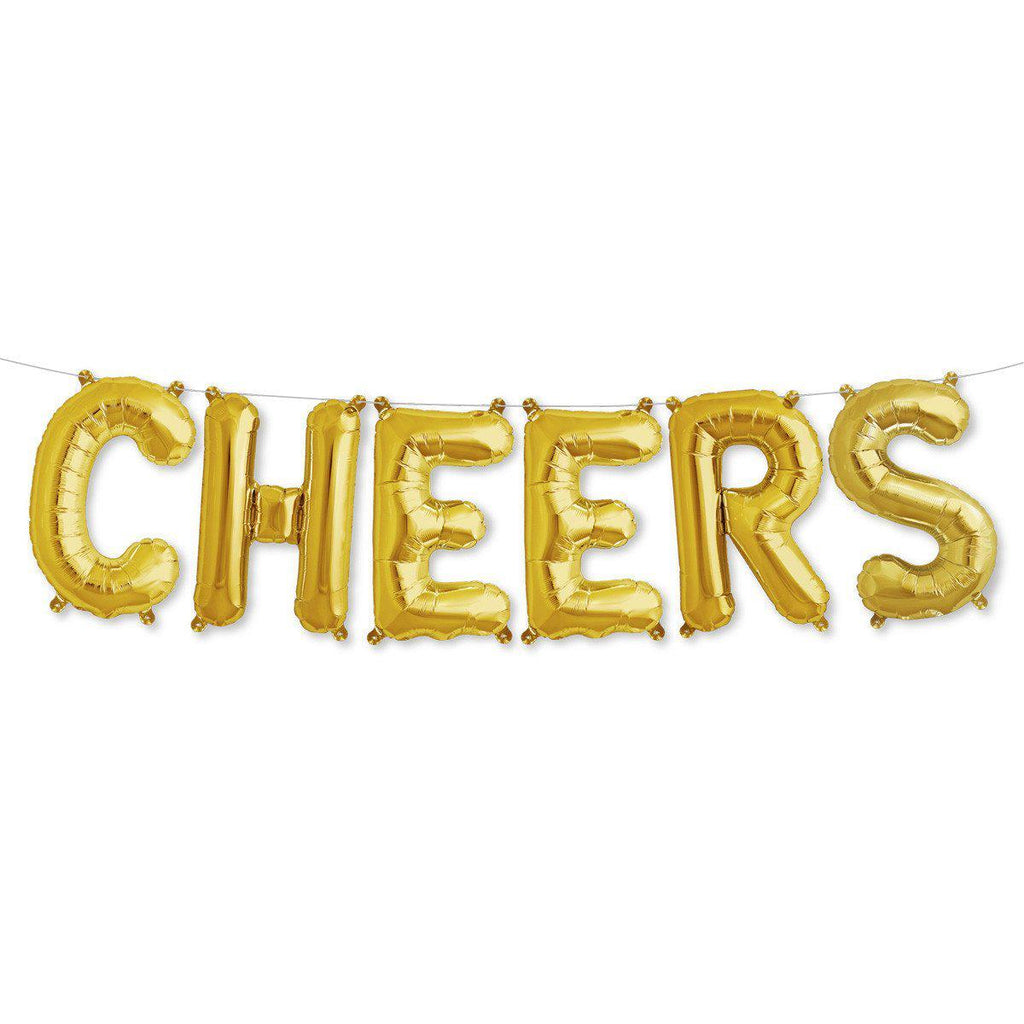 "40cm (16"") Gold Cheers Foil Balloon Kit-Party Love"